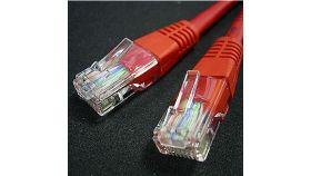 ROLINE 21.15.0521 :: UTP Patch кабел Cat.5e, 0.5 м, AWG24, червен цвят