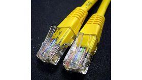 ROLINE 21.15.0522 :: UTP Patch кабел Cat.5e, 0.5 м, AWG24, жълт цвят