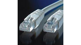 ROLINE 21.15.0830 :: S/FTP Patch кабел, Cat.6, PIMF, 0.5 м, сив цвят, AWG26