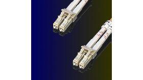ROLINE 21.15.9251 :: Fiber Patch кабел, 1.0 м, тип LC/LC, Duplex, Multimode, 62.5/125um, 3.0 мм, оранжев цвят