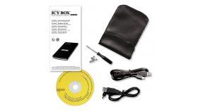 """RAIDSONIC IB-250StU3+BH :: USB 3.0 Външна кутия за 2.5"""" SATA HDD, алуминиева, с калъф, 12.5 мм"""