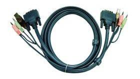 ATEN 2L-7D03U :: DVI KVM кабел, DVI-D M + USB type A M + 2 Audio plugs >> DVI-D M + USB type B M + 2 Audio plugs, 3.0 м