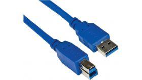 VCom Кабел USB 3.0 AM / BM - CU301-1.5m USB 3.0 кабел за принтер, 1.5м