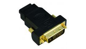 VCom Адаптер Adapter DVI M / HDMI F Gold plated - CA312 Преходник DVI мъжко - HDMI женско, позлатен за най-добър контакт