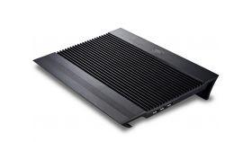 "DeepCool Охлаждане за лаптоп Notebook Cooler N8 17"" - Aluminium - Black Охлаждане за лаптоп алуминиево с два 140 мм вентилатора"