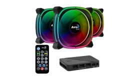 AeroCool Fan Pack 3-in-1 3x120mm - ASTRO 12 Pro - Addressable RGB with Hub, Remote - ACF3-AT10217.02