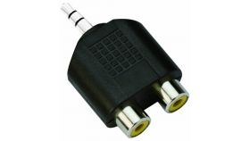 VCom Адаптер Adapter 3.5mm Stereo M / 2x RCA F - CA501