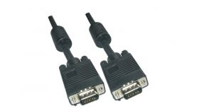 VCom Кабел за монитор VGA HD15 M / M - CG341D-20m VGA cable HD 15 M/M Black+2Ferrite                 <br>