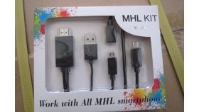 MHL cable Samsung S4/S3/S2 - CG703-B-1.2m+0.6m