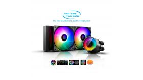 DeepCool водно охлаждане Water Cooling CASTLE 240 RGB V2 - Addressable RGB Anti-leak Tech Inside liquid cooling system equipped.<br>Double window panes and immersive ambient lighting ready to provide a perfect display of aesthetic illumination.<br>16.7 M