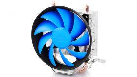 DeepCool Охладител CPU Cooler GAMMAXX 200T - 1150/775/AMD Охладител за процесори Intel и AMD с голяма 120мм перка с 4 пина (PWM) и възможност за контролиране на шума и охлаждането