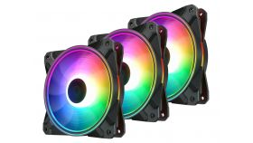 DeepCool комплект вентилатори Fan Pack 3-in-1 3x120mm CF120 PLUS aRGB with controller