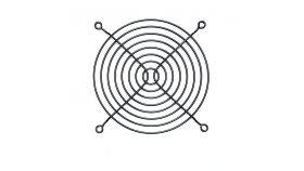 Evercool предпазител за вентилатор Fan Grill Metal - 120mm Black Предпазна решетка за вентилатор 120мм, метална , черна