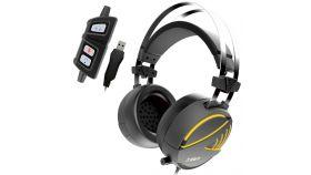 Gamdias геймърски слушалки Gaming Heaphones - HEBE M1 RGB Virtual 7.1 / Vibration