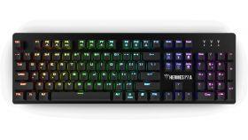 Gamdias механична клавиатура Gaming Mechanical Keyboard - HERMES P2A 1000Hz, Optical switches