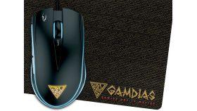 Gamdias геймърска мишка с подложка Gaming Mouse - ZEUS E1A + PAD NYX E1 - 4200dpi