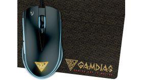 Gamdias геймърска мишка с подложка Gaming Mouse - ZEUS E2 OPTICAL + PAD NYX E1 - 3200dpi, backlight