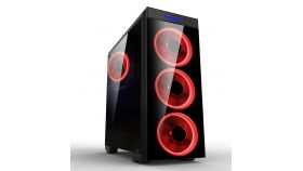 Makki Case ATX Gaming - MAKKI-8872-RED - 4x120mm RED double ring fans MAKKI-8872-RED-4F