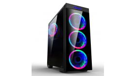 Makki Case ATX Gaming - MAKKI-8872-RGB - 4x120mm RGB double ring fans