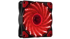 Makki вентилатор Fan 120mm - 15 RED LED lights - MAKKI-FAN120-15RD
