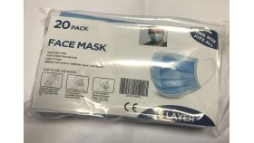 OEM предпазни маски пакет covid 19 - Face Mask Surgical Blue 3 layers - 20pcs pack