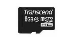 Transcend 8GB microSDHC (No Box & Adapter - Class 4)