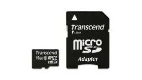 Transcend 16GB microSDHC (1 adapter - Class 10)