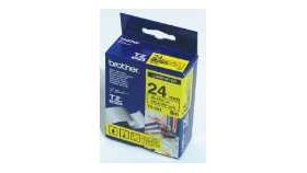 Brother TZe-651 Tape Black on Yellow, Laminated, 24mm - Eco