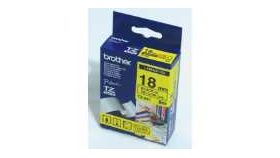 Brother TZe-641 Tape Black on Yellow, Laminated, 18mm Eco