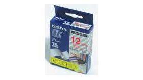 Brother TZe-132 Tape Red on Clear, Laminated, 12mm, 8m - Eco