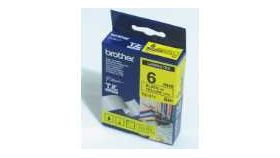 Brother TZe-611 Tape Black on Yellow , Laminated, 6mm - Eco