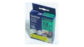 Brother TZe-731 Tape Black on Green, Laminated, 12mm, 8m - Eco