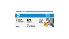 HP LaserJet 12A Black Toner Cartridge Dual Pack