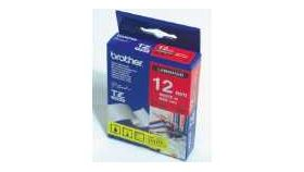 Brother TZe-435 Tape White on Red, Laminated, 12mm, 8m