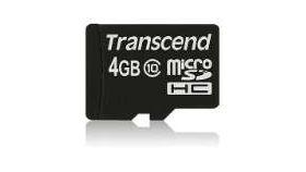 Transcend 4GB micro SDHC (No Box & Adapter - Class 10)