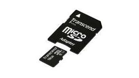 Transcend 16GB micro SDHC UHS-I (with adapter - Class 10)