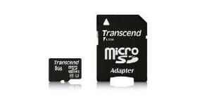 Transcend 8GB micro SDHC UHS-I Premium (with adapter, Class 10)
