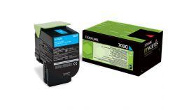 Lexmark 702C Cyan Return Program Toner Cartridge