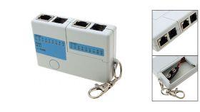 Мини тестер за кабели RJ11 и RJ45