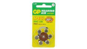 Батерия цинкова ZA312  1бр. бутонна за слухов апарат GP