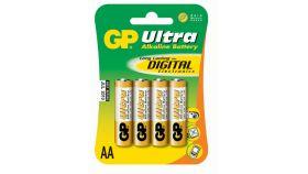 Алкална батерия ULTRA LR6 AA /4 бр. в опаковка/ 1.5V GP, GP15AU