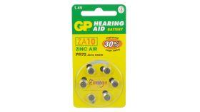 Батерия цинкова ZA10  1бр. бутонна за слухов апарат GP