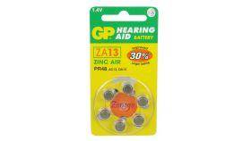 Батерия цинкова ZA13 1бр.  бутонна за слухов апарат GP- по 6 броя са в блистер ( цената е за една батерия) !!