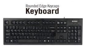 Клавиатура KR85,USB, черна, със заоблени клавиши