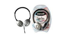 Слушалки  стерео Super THIN малки наушници ,сребристи MAXELL