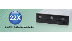 Записващо устройство DVD R/W  LITE ON  iHAS122  SATA черен панел, 24speed